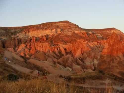 Alternância de cores no por do sol na Capadócia