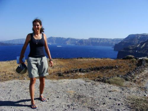 A caldeira para nós é sinônimo do azul de Santorini