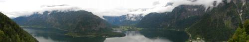 Panorâmica do lago Hallstatt