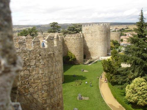 Vista externa da muralha