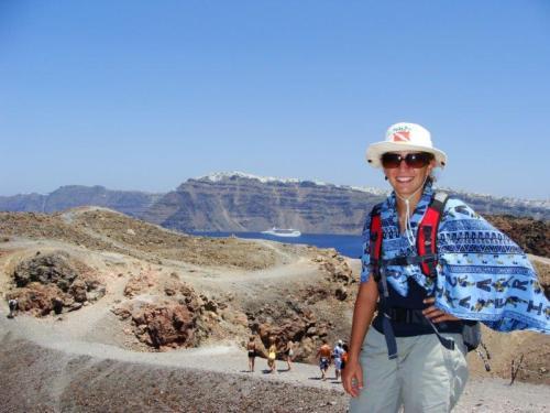 e até vulcão tem em Santorini