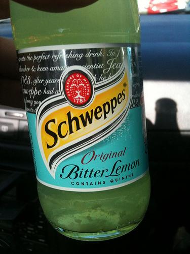 com bitter lemon, mistura inusitada mas saborosa