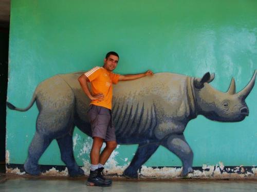 O único rinoceronte que vimos foi este ai