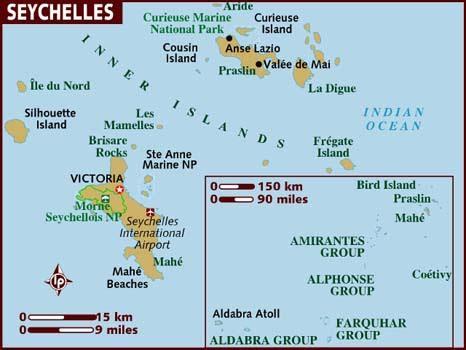 Mapa básico de Seychelles