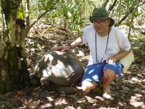 Encontro com as gigantes na Ilha Ilha aux Aigrettes
