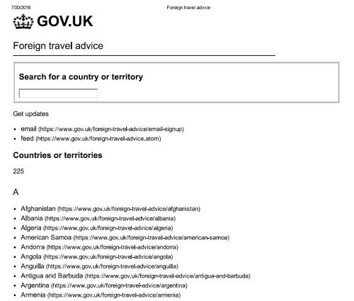 Muita informação no site do governo britânico