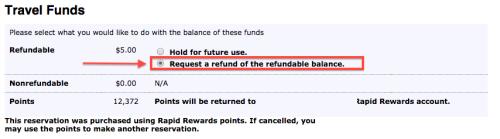 Você pode cancelar e solicitar o dinheiro de volta