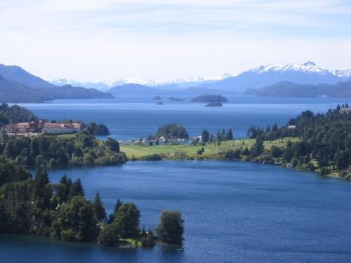 Vista do lago Nahuel Huapi