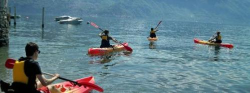 Kayak no Lago Como