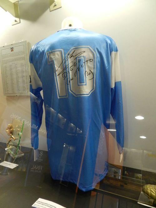 Camisa de Maradona no Napoli