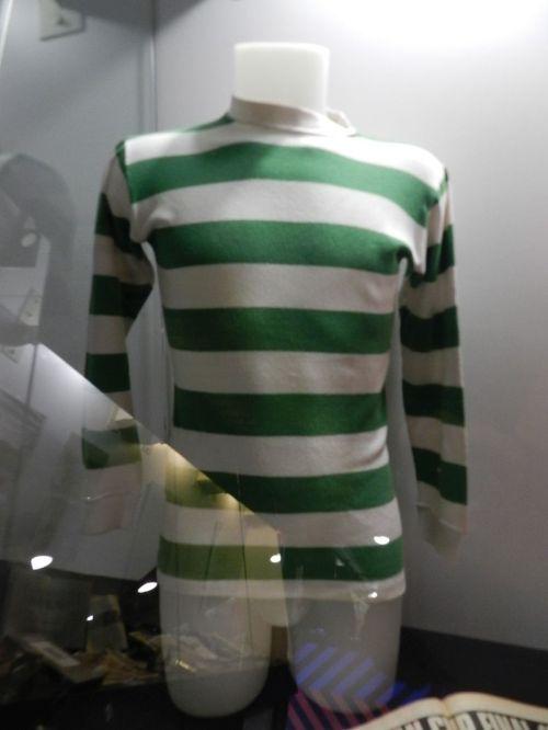 Camisa do Celtic usada na final da Liga dos Campeões 1969-70 em que o Feyenoord venceu na prorrogação
