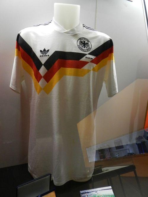 Camisa de Si Steiner da seleção alemã campeã da Copa do Mundo de 1990