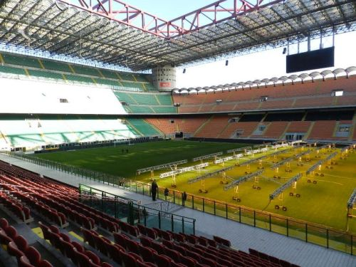 Estádio visto das arquibancadas