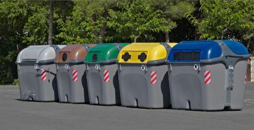 Elas estão por toda cidade e cada cor corresponde a um tipo de material